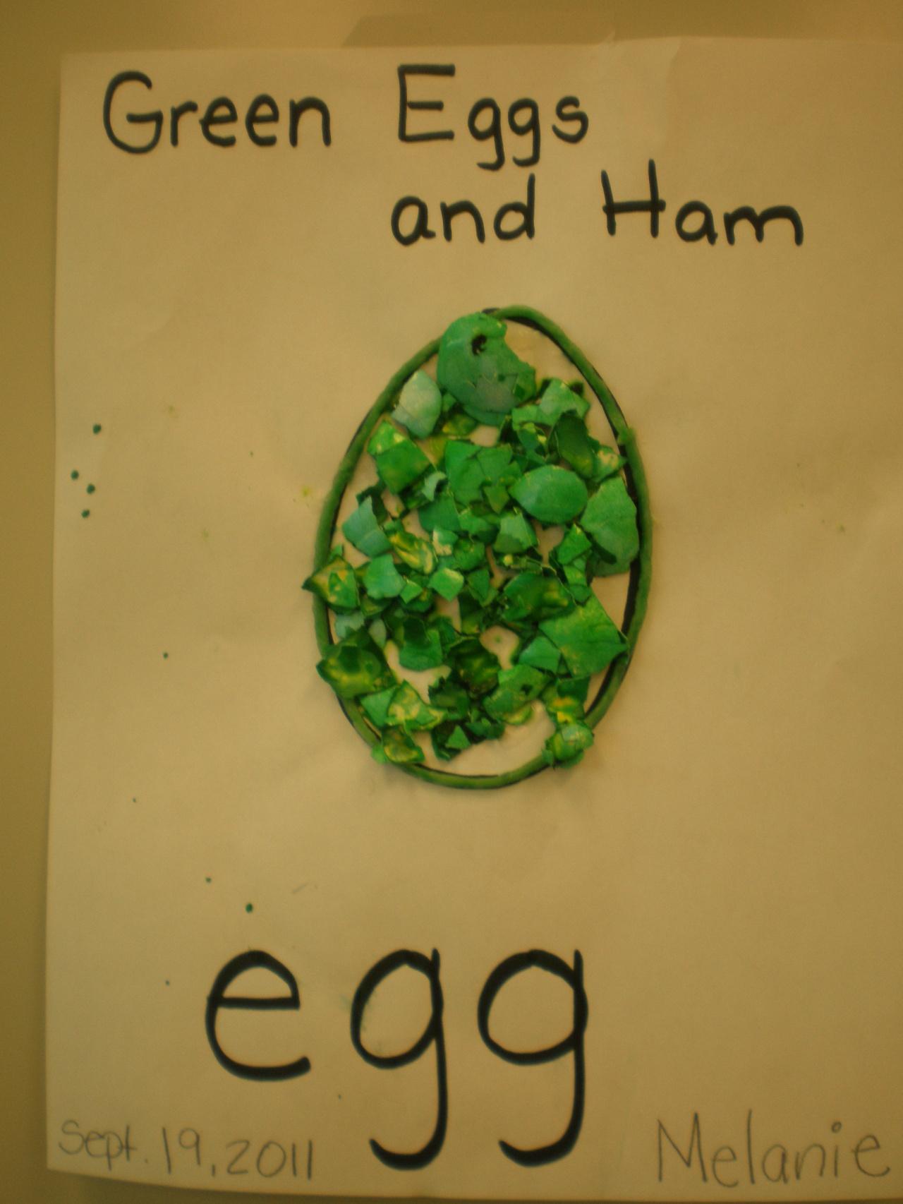 Green Eggs And Ham Activities